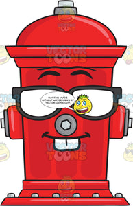 Nerd Looking Fire Hydrant Emoji
