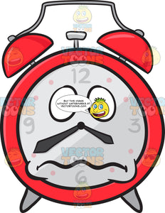 Nervous Looking Alarm Clock Emoji