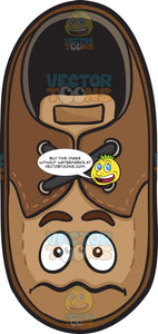 Nervous Looking Brown Shoe Emoji