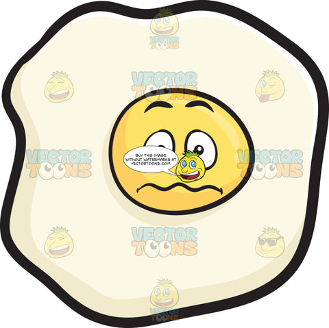Nervous Looking Sunny Side Up Egg Emoji