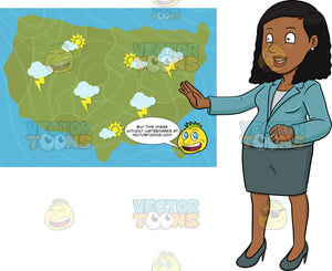 A Black Weather Girl Reporting The Latest Weather Bulletin