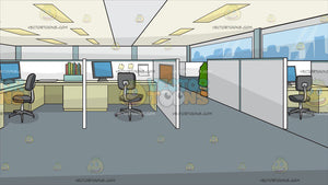 Office Cubicles Background