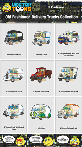 Old Fashioned Delivery Trucks Collection
