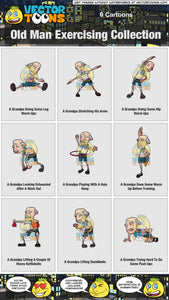 Old Man Exercising Collection