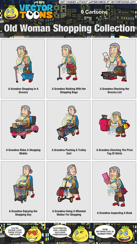 Old Woman Shopping Collection
