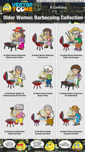 Older Women Barbecuing Collection
