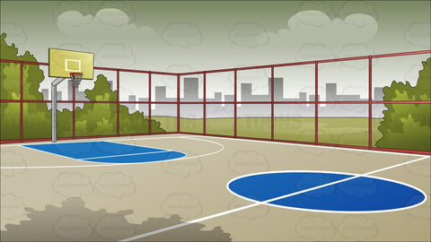 Outdoor Basketball Court Background