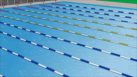 Outdoor Competition Swimming Pool Background