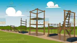 Outdoor Obstacle Course Background