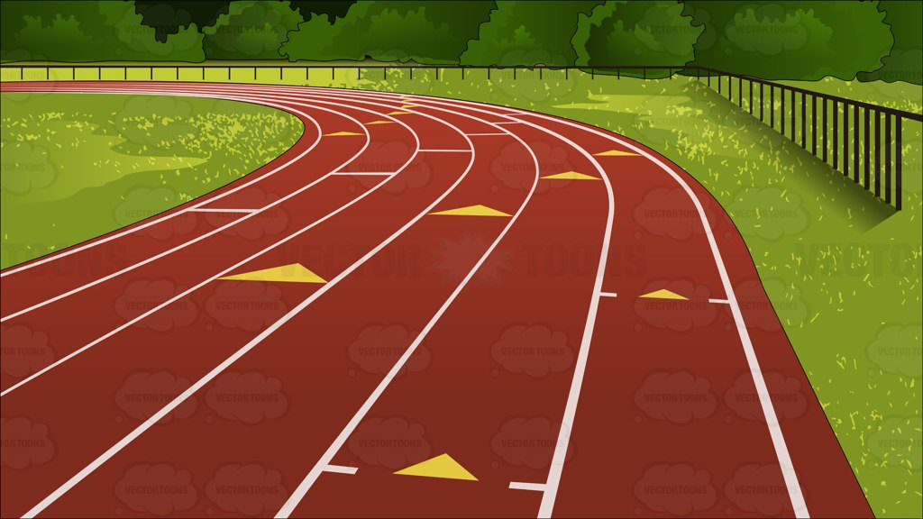 Outdoor Running Track Background – Clipart Cartoons By ...