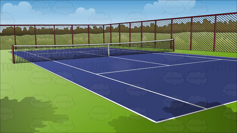 Outdoor Tennis Court Background