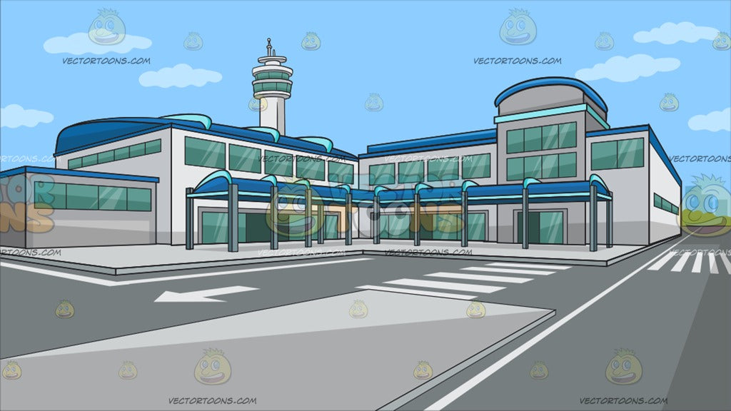 Outside An Airport Terminal Background