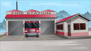 Outside The Town Fire Station