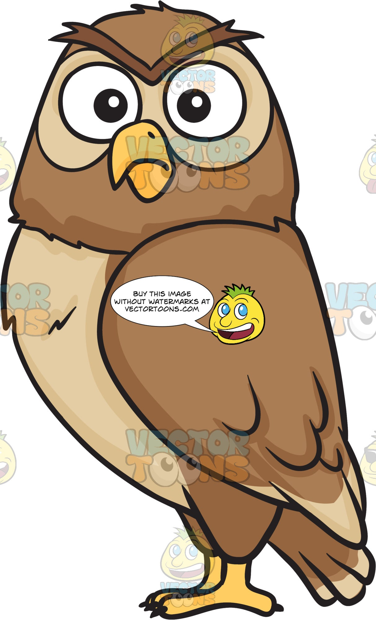 A shocked night owl – Clipart Cartoons By VectorToons