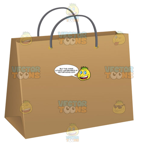 Large Bottom Paper Bag With Twisted Paper Handles