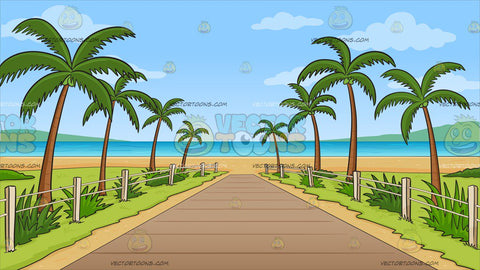 Pathway To A Tropical Beach Background
