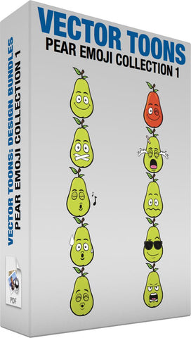 Pear Emoji Collection 1