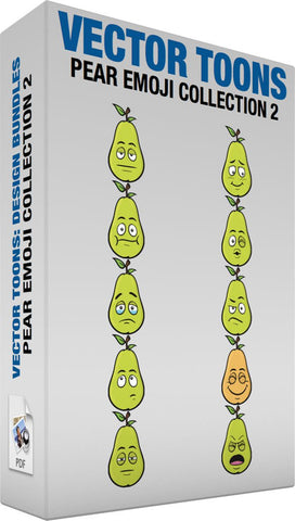 Pear Emoji Collection 2