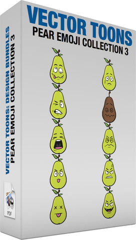 Pear Emoji Collection 3