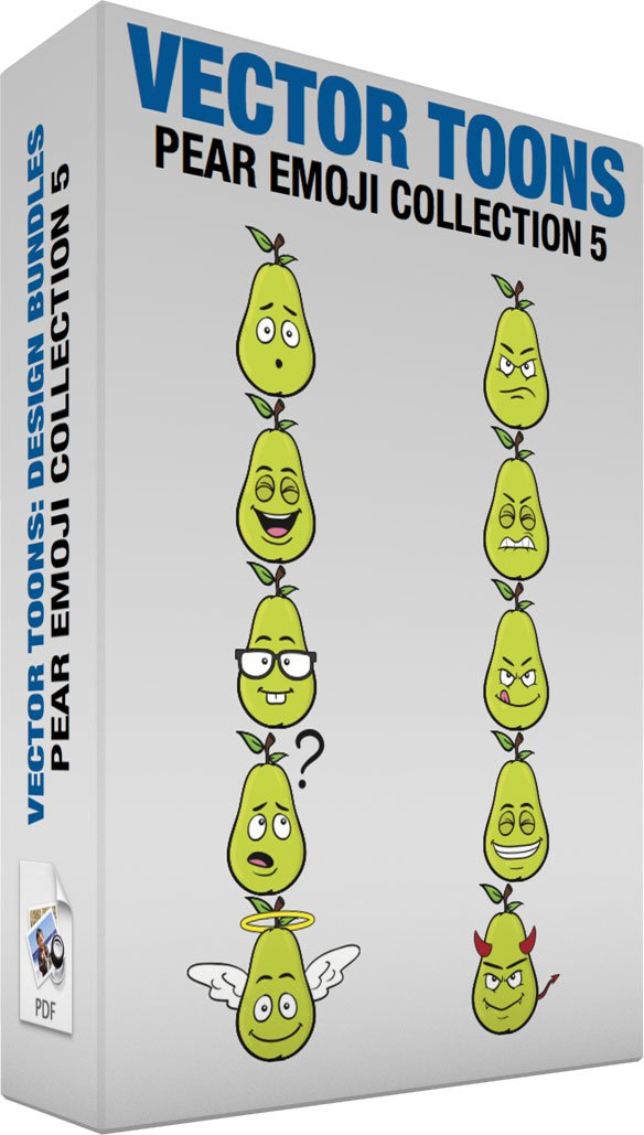 Pear Emoji Collection 5