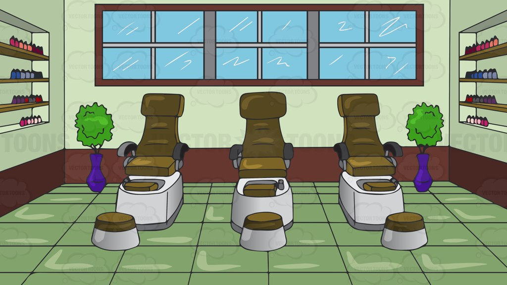 Pedicure Chairs At A Spa Background