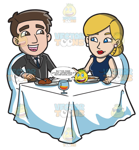 A Couple Celebrating Their Anniversary With A Dinner For Two