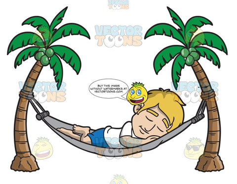A Sleeping Man In A Hammock