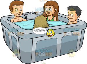 A Group Of Friends In A Hot Tub