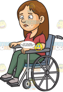 A Disoriented Woman In A Wheelchair