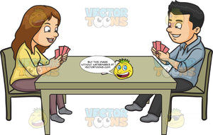 A Couple Playing Poker