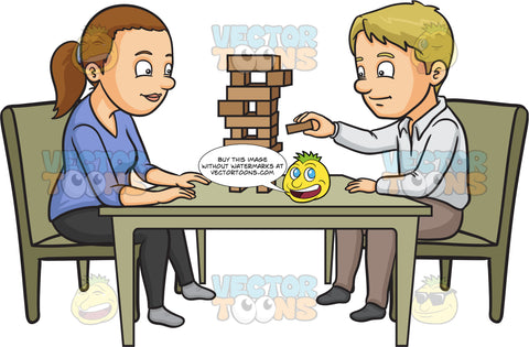 A Couple Playing Jenga