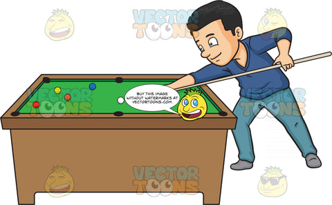 A Man Playing Billiards