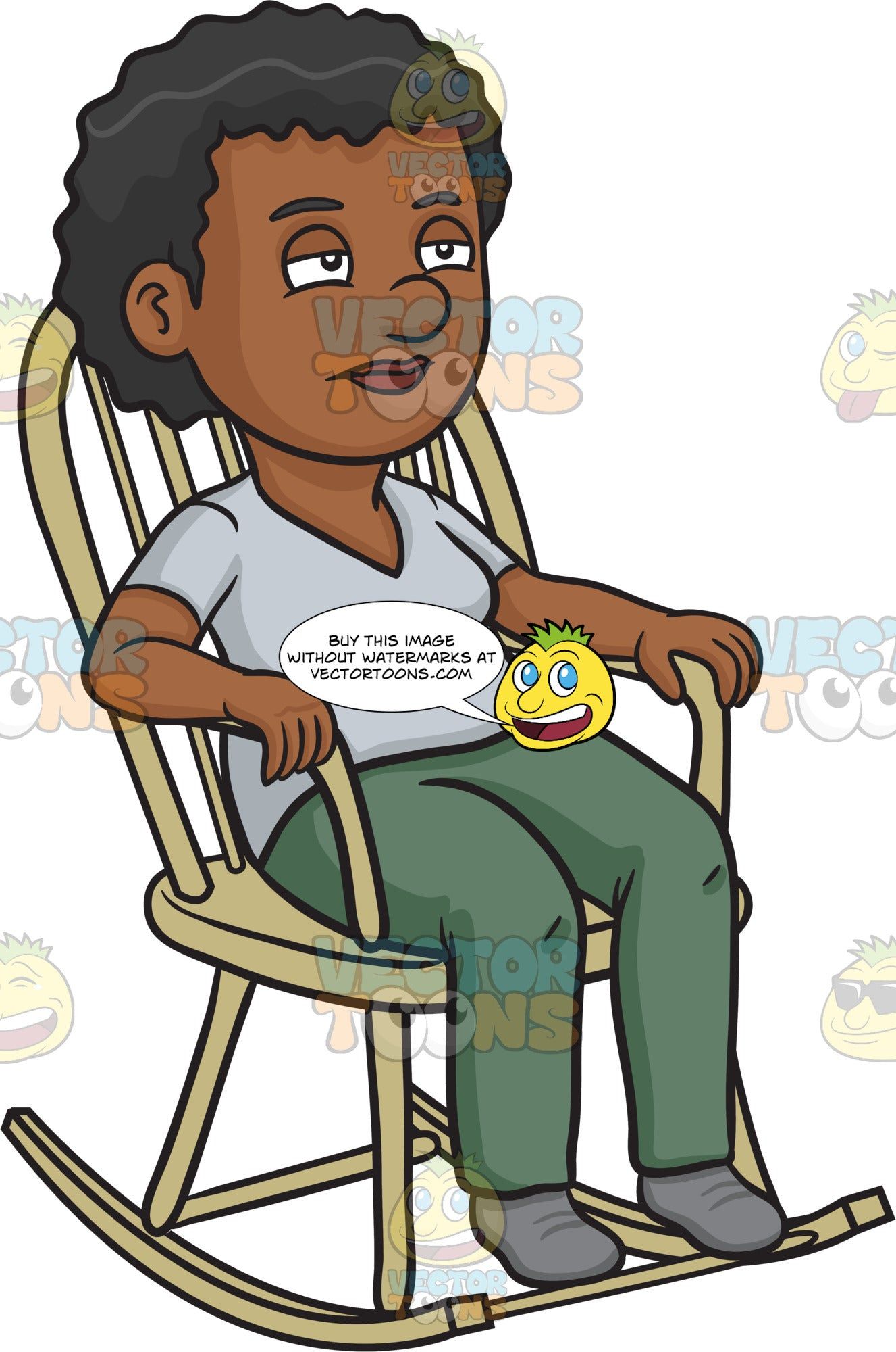 Terrific A Black Woman Relaxing In A Rocking Chair Squirreltailoven Fun Painted Chair Ideas Images Squirreltailovenorg
