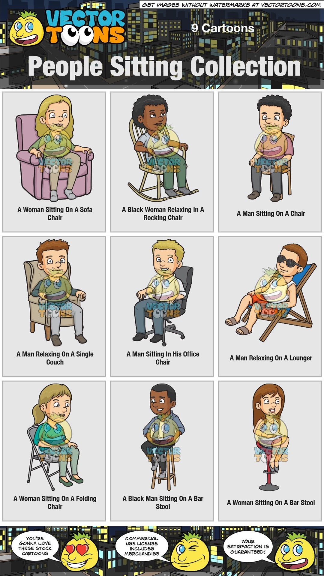 Picture of: People Sitting Collection Clipart Cartoons By Vectortoons