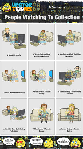 People Watching Tv Collection