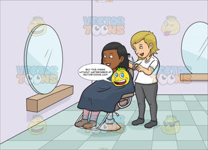 A Black Woman Getting A Haircut