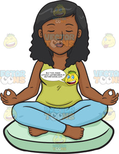 A Black Woman Meditating