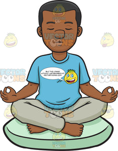 A Black Man Meditating
