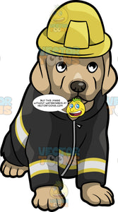 A Cute Fire Safety Puppy
