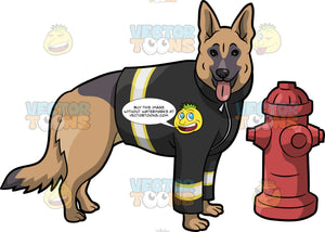 A Fire Safety German Shepherd