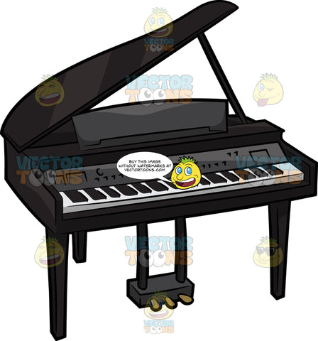 An Electric Baby Grand Piano
