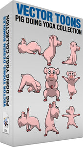 Pig Doing Yoga Collection