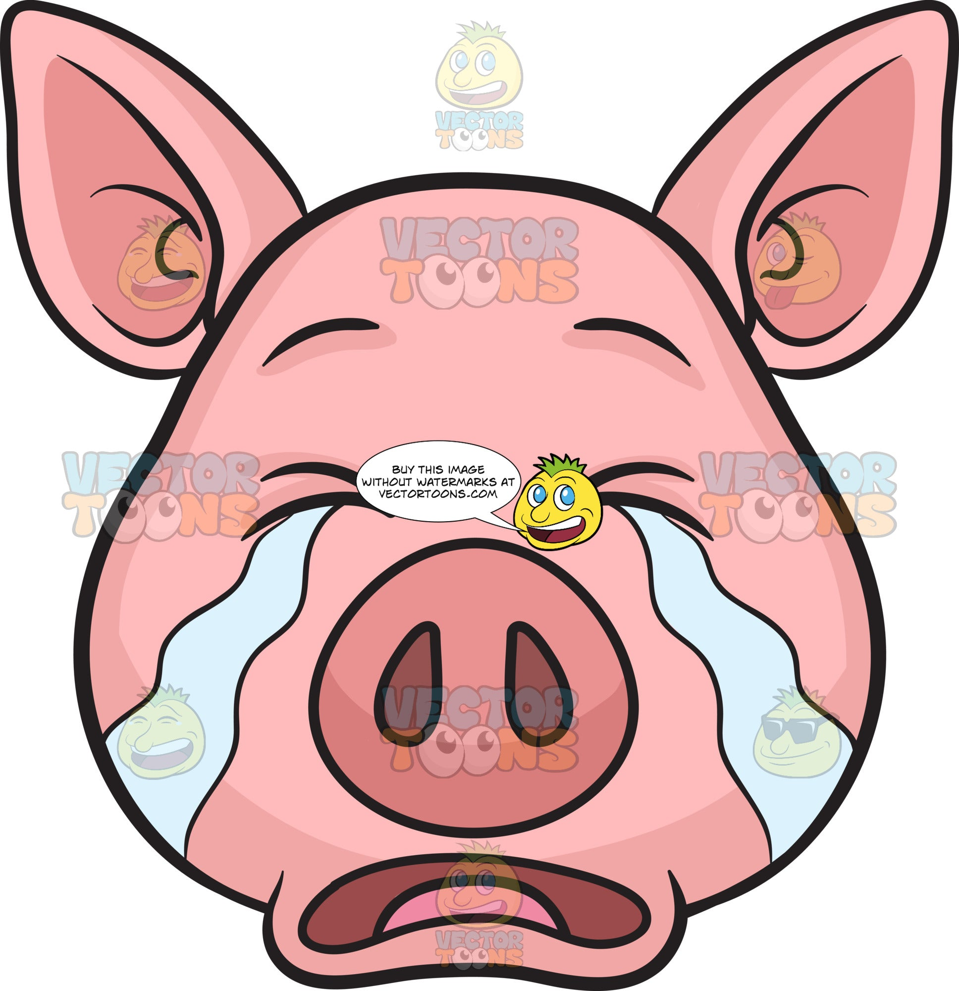 A Pig Weeping In Tears
