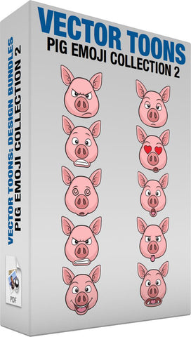 Pig Emoji Collection 2