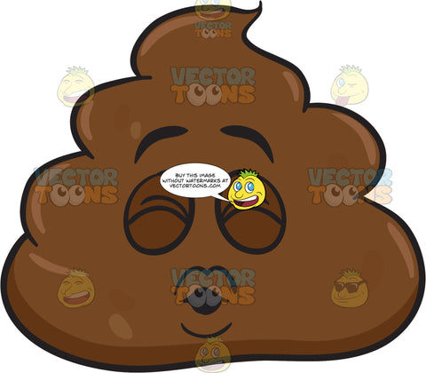 A Pile Of Poo Blowing Kisses