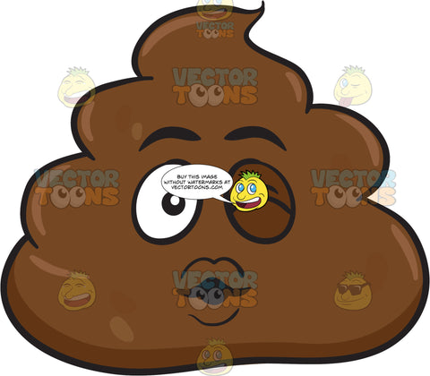 A Winking Pile Of Poo Blowing Some Kisses