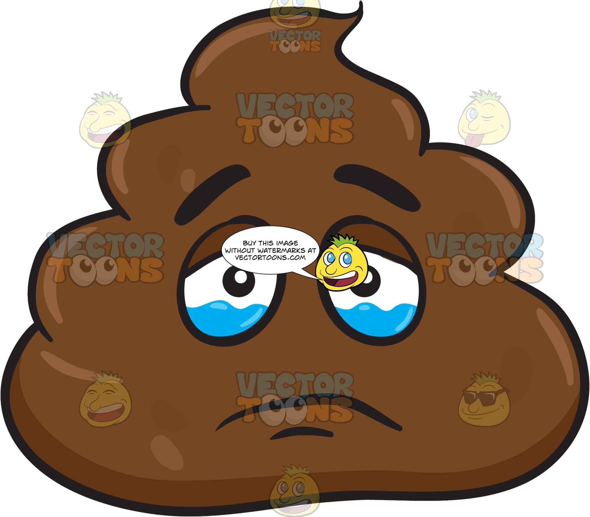 A Teary Eyed Pile Of Poo