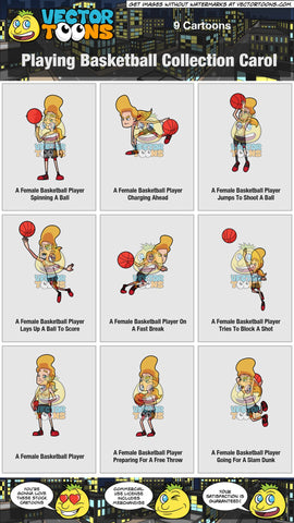 Playing Basketball Collection Carol