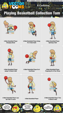 Playing Basketball Collection Tom