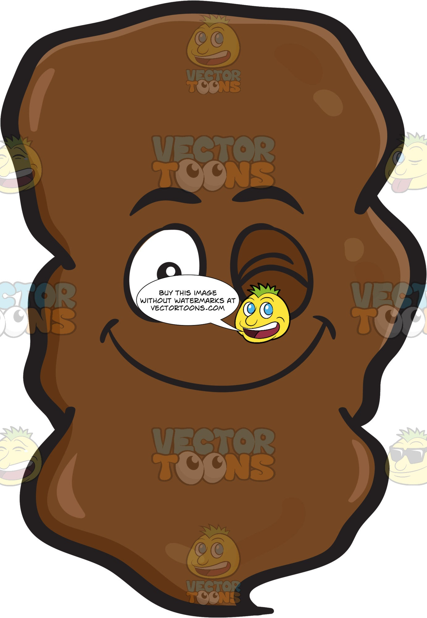 A Winking Large Chunk Of Poo